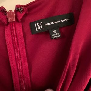 International Concepts wine red gown dress size 10